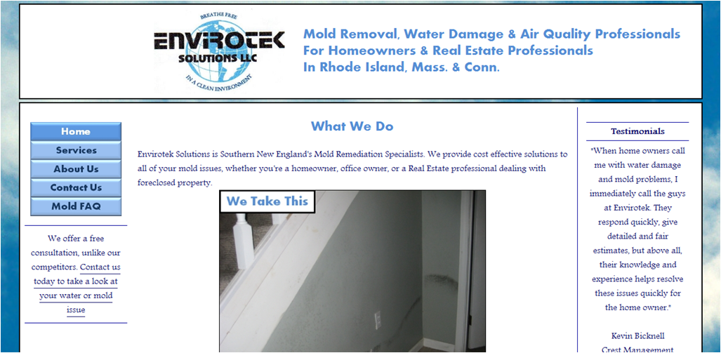 Envirotek Solutions - Customer Website