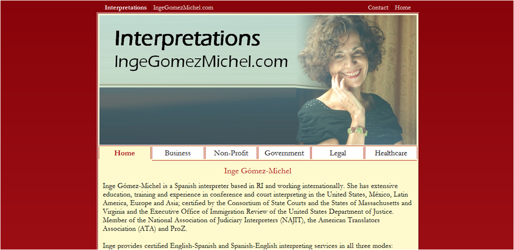 Inge Gomez-Michel - Customer Website