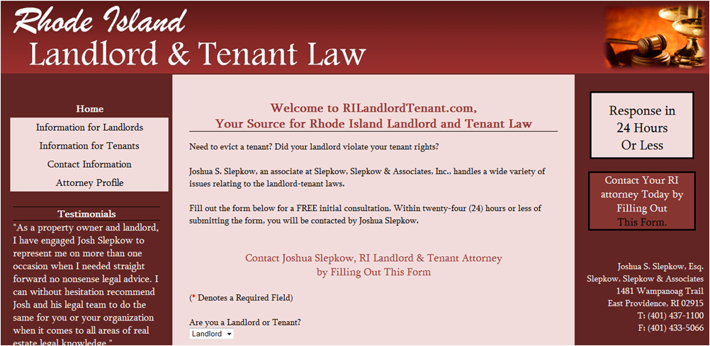 RI Landlord Tenant Law - Customer Website